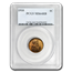 1910 Lincoln Cent MS-64 PCGS (RD/BN)