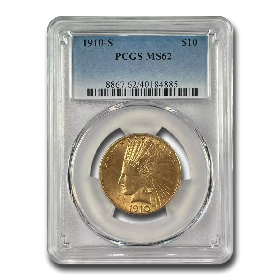 1910-S $10 Indian Gold Eagle MS-62 PCGS