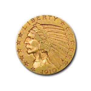 1910-S $5 Indian Gold Half Eagle XF
