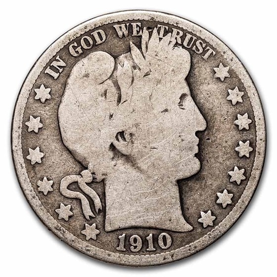 1910-S Barber Half Dollar Good