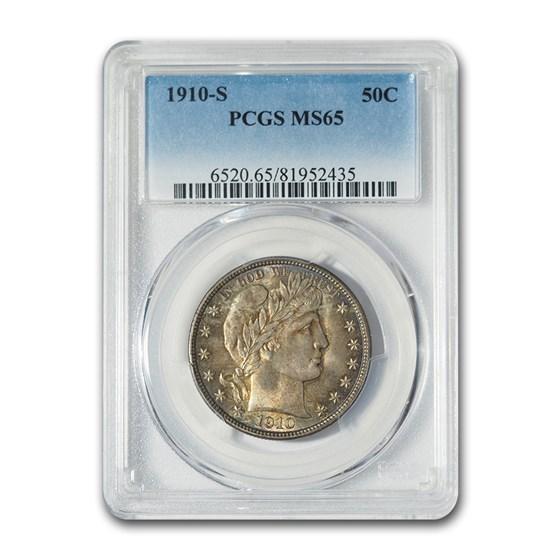 1910-S Barber Half Dollar MS-65 PCGS