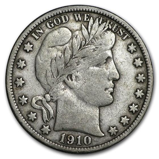 1910-S Barber Half Dollar VF