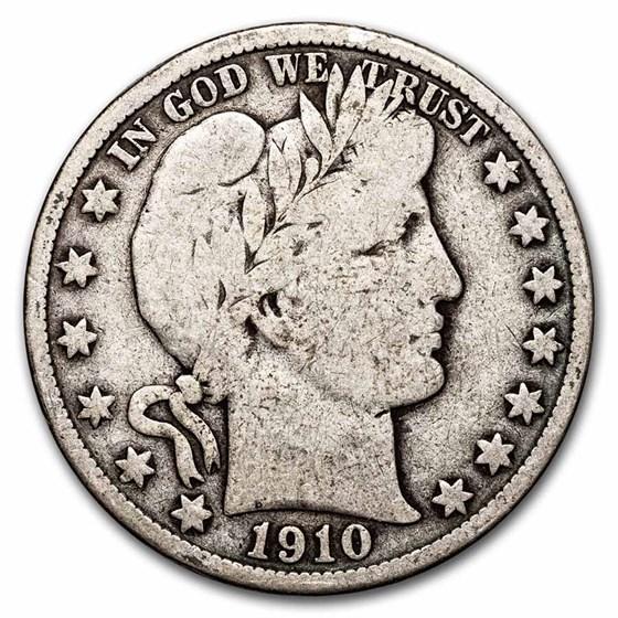 1910-S Barber Half Dollar VG