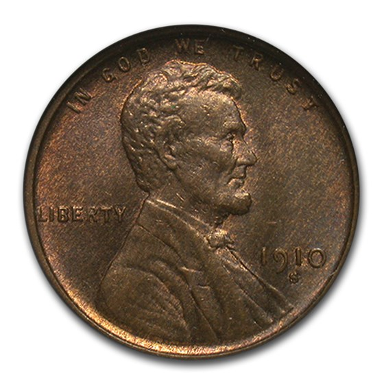 1910-S Lincoln Cent MS-63 NGC (Brown)