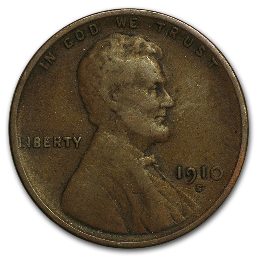 1910-S Lincoln Cent VF