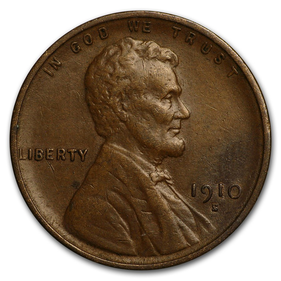 1910-S Lincoln Cent XF