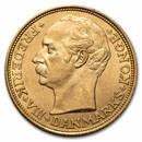 1910-VBP Denmark Gold 20 Kroner Christian X BU