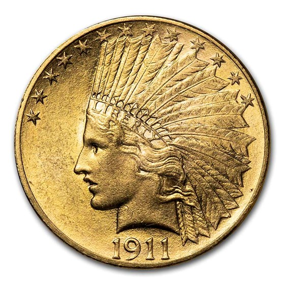 1911 $10 Indian Gold Eagle AU