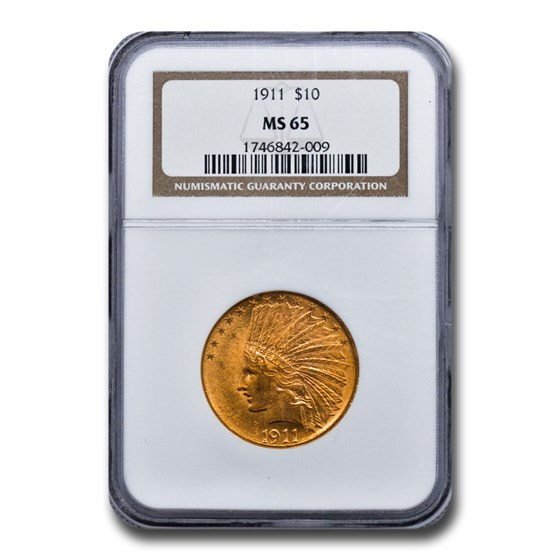 1911 $10 Indian Gold Eagle MS-65 NGC