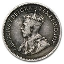 1911-1921 Canada Silver 5 Cents George V Avg Circ