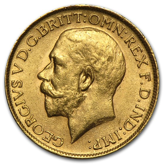 1911-1925 Great Britain Gold Sovereign George V AU