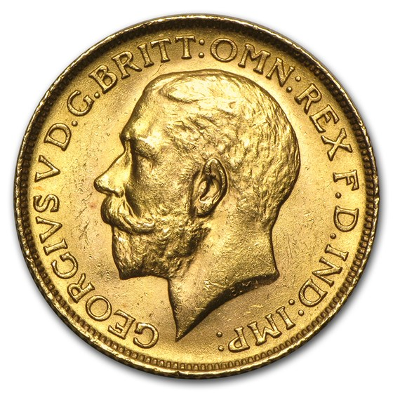 1911-1925 Great Britain Gold Sovereign George V BU