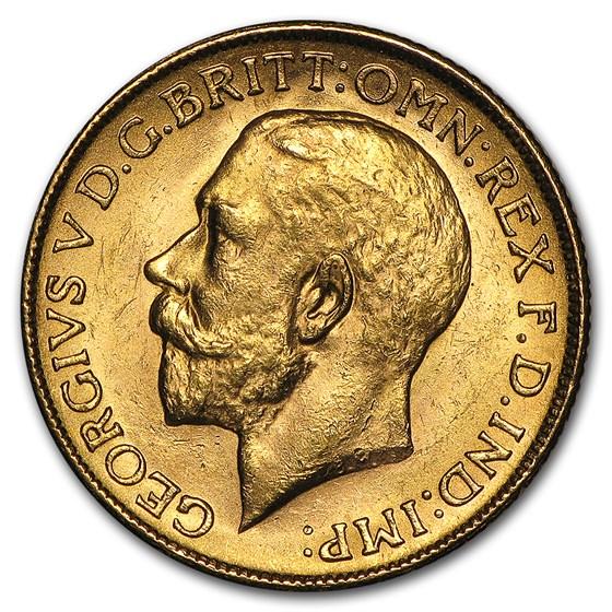 1911-1931-M Australia Gold Sovereign George V BU