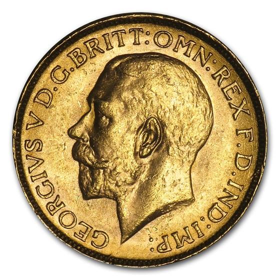 1911-1931-P Australia Gold Sovereign George V AU