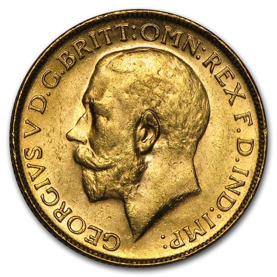 1911-1931-P Australia Gold Sovereign George V BU