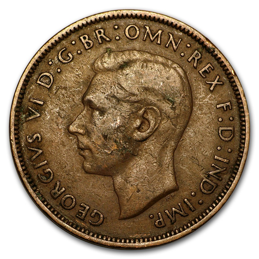 1911-1936 George VI Penny Large Head Cull (Random Coin)
