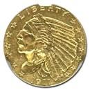 1911 $2.50 Indian Gold Quarter Eagle MS-61 NGC