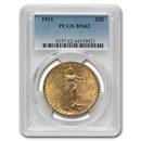 1911 $20 Saint-Gaudens Gold Double Eagle MS-62 PCGS