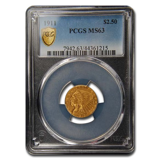 1911 $5 Indian Gold Half Eagle MS-63 PCGS