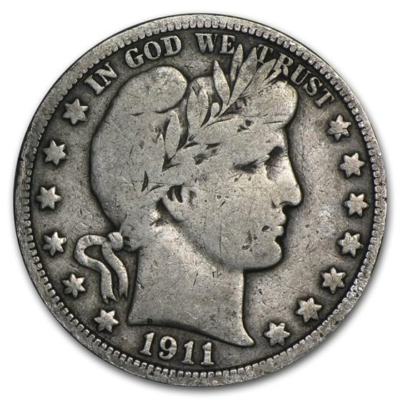 1911 Barber Half Dollar Fine