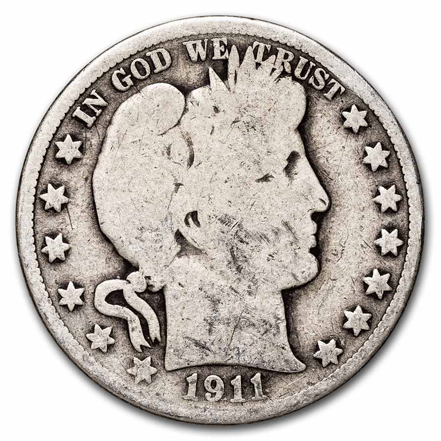 1911 Barber Half Dollar Good