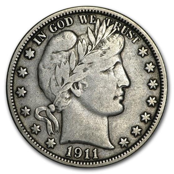 1911 Barber Half Dollar VF