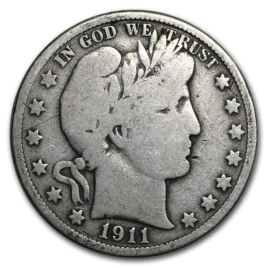 1911 Barber Half Dollar VG