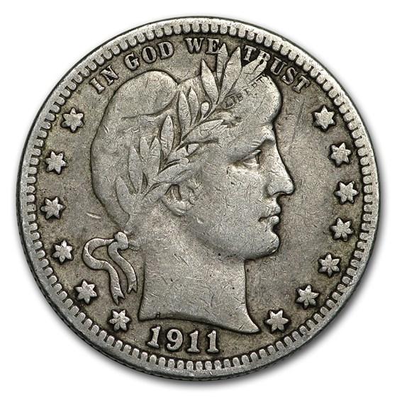 1911 Barber Quarter Fine