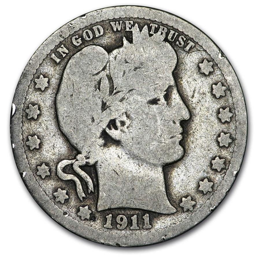 1911 Barber Quarter Good/VG