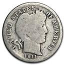 1911-D Barber Dime Good/VG