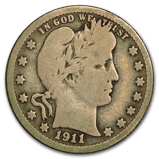 1911-D Barber Quarter Good