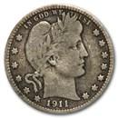 1911-D Barber Quarter VG
