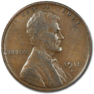 1911-D/D Lincoln Cent VF