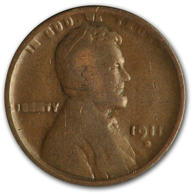 1911-D Lincoln Cent Good/VG