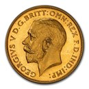 1911 Great Britain Gold 1/2 Sovereign George V PR-65 PCGS