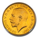 1911 Great Britain Gold Half-Sovereign George V PF-64 NGC