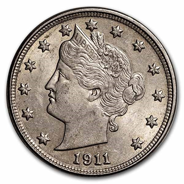 1911 Liberty Head V Nickel BU