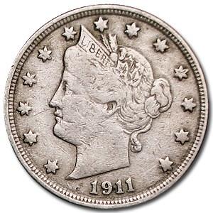 1911 Liberty Head V Nickel Fine