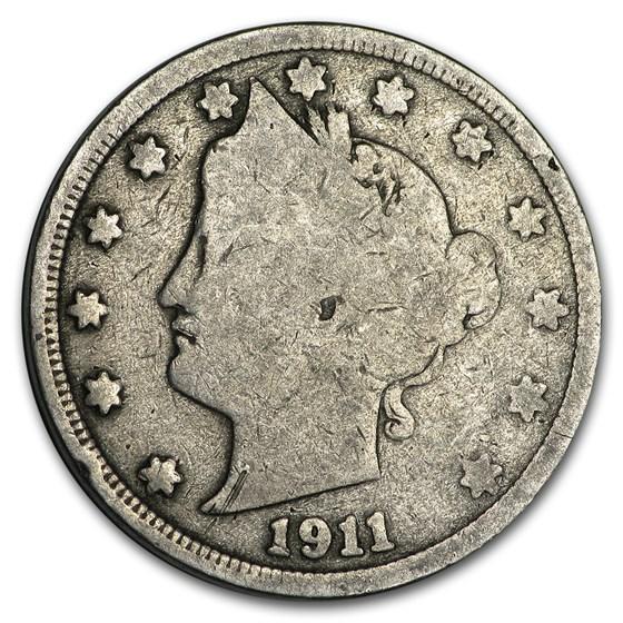 1911 Liberty Head V Nickel Good+