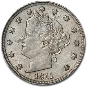 1911 Liberty Head V Nickel MS-63