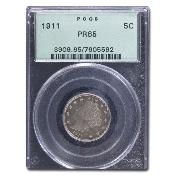1911 Liberty Head V Nickel PR-65 PCGS