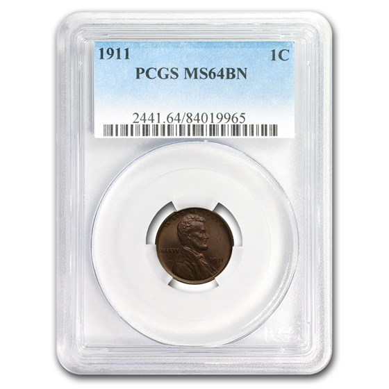 1911 Lincoln Cent MS-64 PCGS (Brown)
