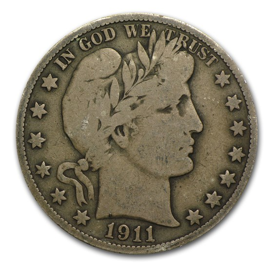 1911-S Barber Half Dollar VG