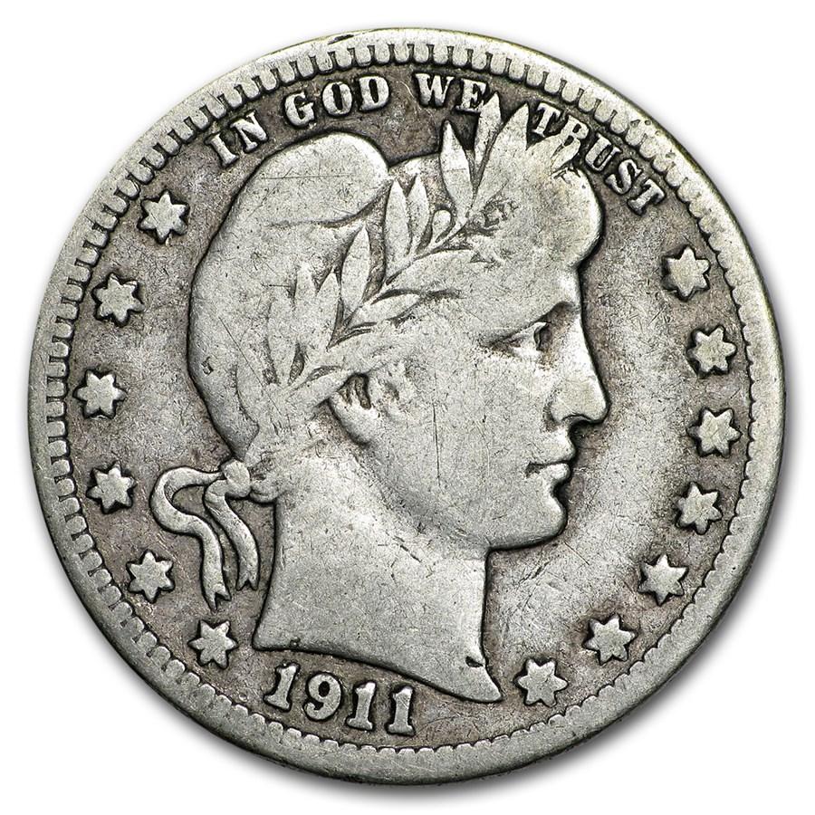 1911-S Barber Quarter VG