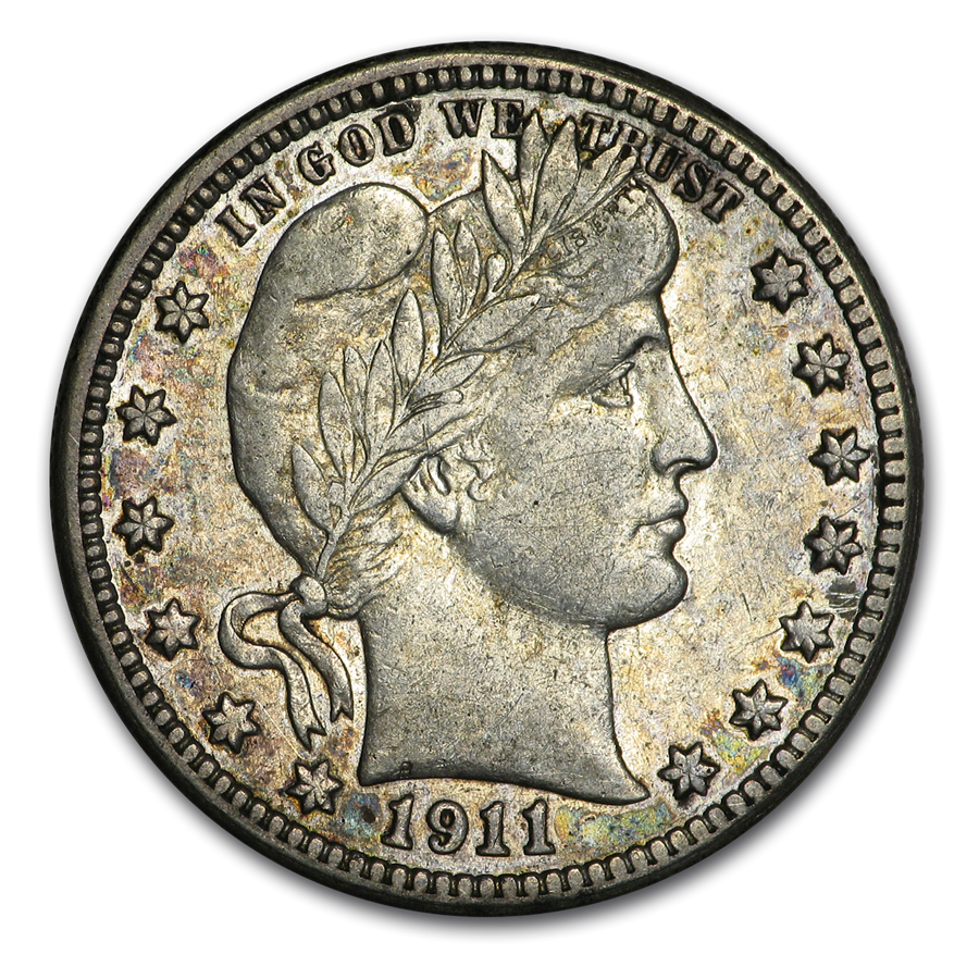 1911-S Barber Quarter XF