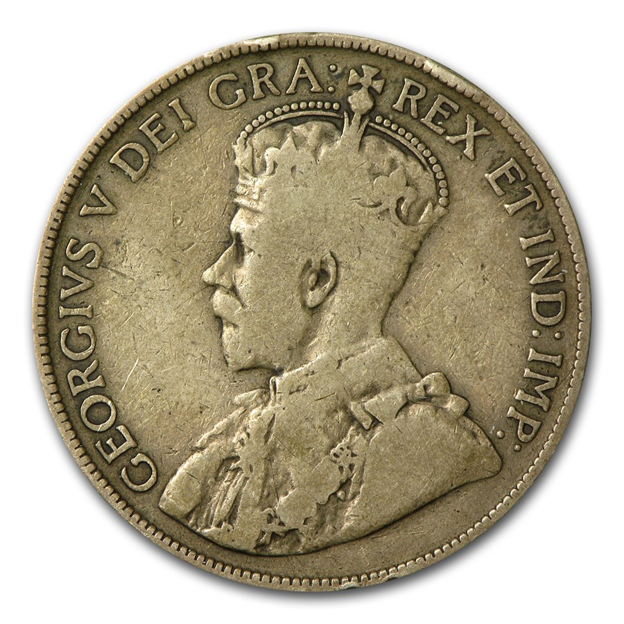 1912-1919 Canada 50 Cents Fine/VF George V