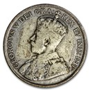 1912-1919 Canada Silver 50 Cents George V Avg Circ