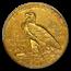 1912 $2.50 Indian Gold Quarter Eagle AU-55 PCGS