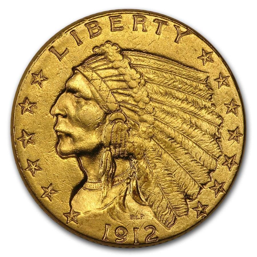 1912 $2.50 Indian Gold Quarter Eagle AU