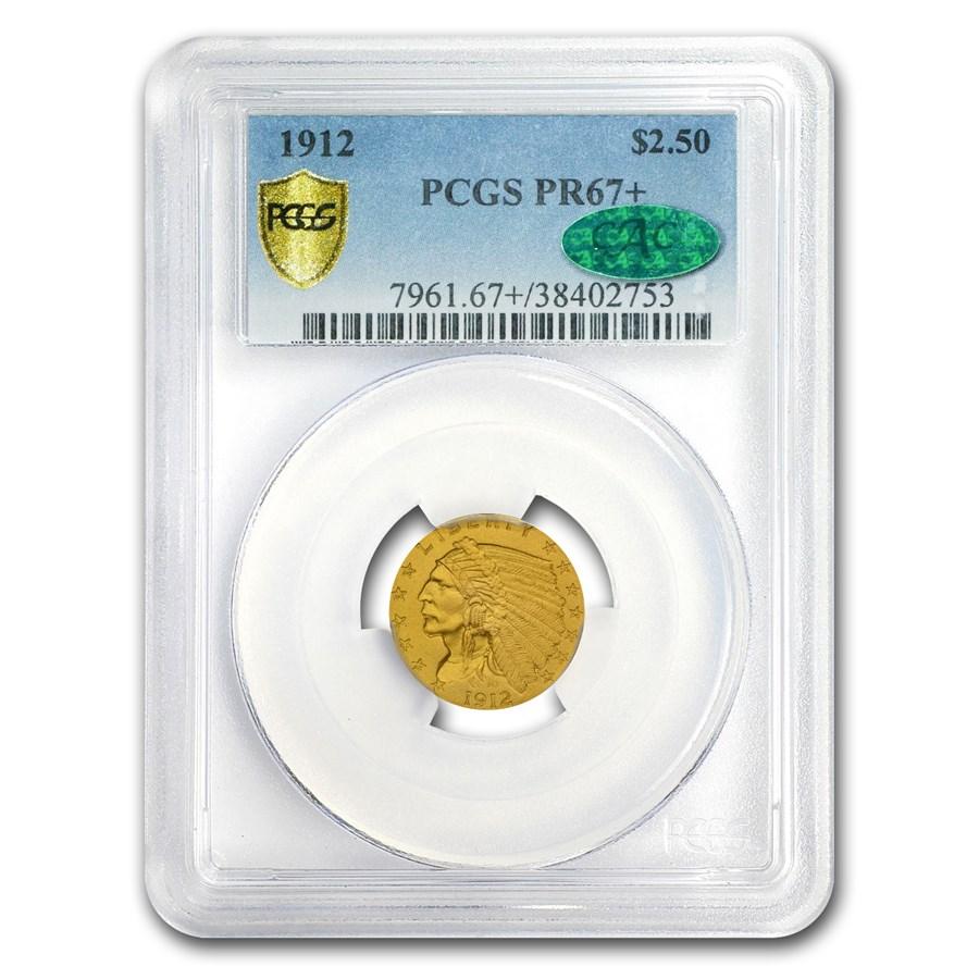 1912 $2.50 Indian Gold Quarter Eagle PR-67+ PCGS CAC